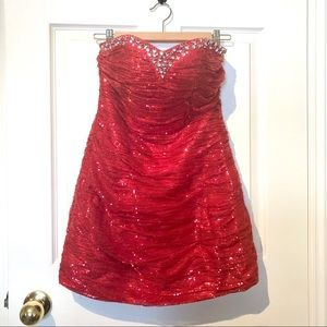 Sequin Sweetheart Mini Dress